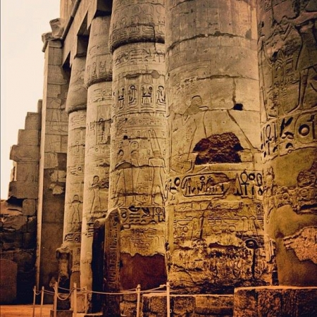 Inside Karnak Temple in Luxor
