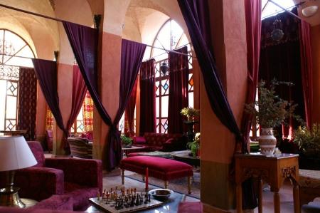 The wesrtern Bar at Hotel Al Moudira Luxor