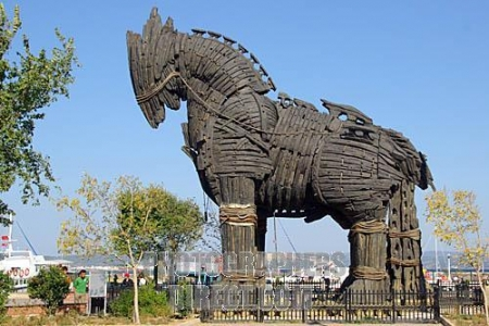 Trojan Horse, Troy, Turkey