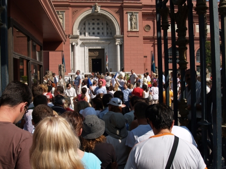 Crowds at the Egyptian Museum