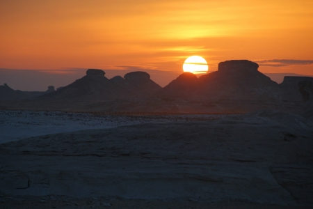 Sunset at the White Desert, Egypt