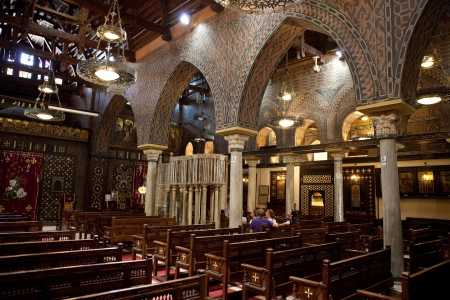 Inside Hanging Church in Giza