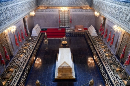 Interno del Mausoleo di Mohamed V
