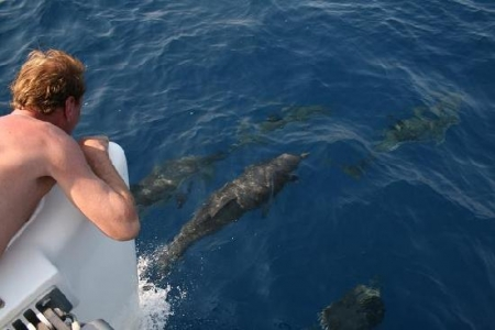 Swimming at Hydra Island, Greece