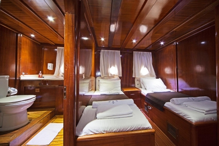 Twin Cabin of The Gulet Cruise