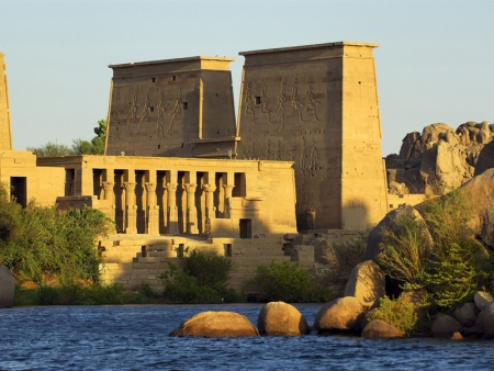 The Sunrise at Philae Temple