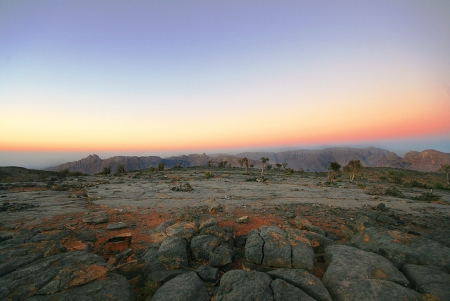 Sunset in Jebel Shams