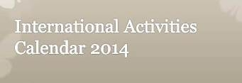 International Activities Calendar for 2014