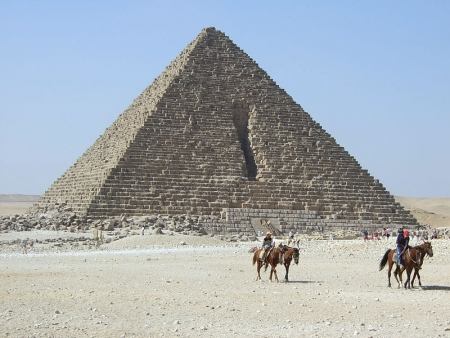 Riding Horses Near the Pyramid of Menkaure (Mykerinus)