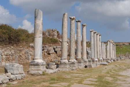 Archaeological Site of Perge of Turkey
