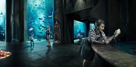 El hotel Atlnatis bajo el mar.