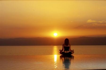 Yoga on the Dead Beach