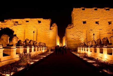 Karnak Temple by the night