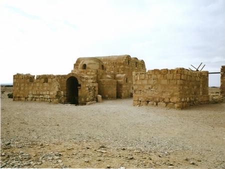 ヨルダンの砂漠、アムラ城
