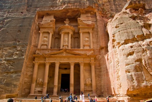 The Treasury in Petra (Known as El Khaznah)
