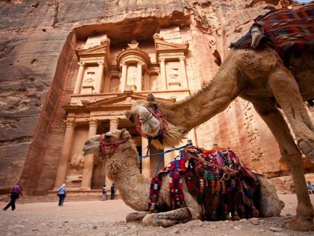 The Treasury (Al-Khazneh) in Jordan