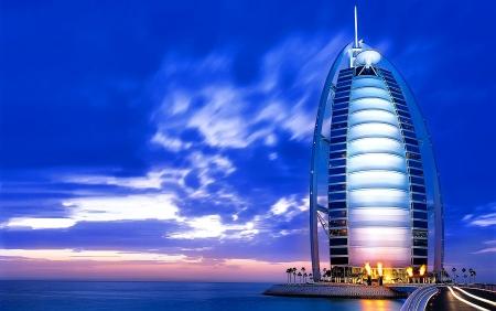 Burj Al Arab por la tarde.