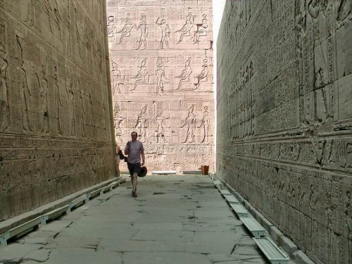 Inside The Temple of Horus in Edfu