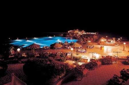 Kahramana Beach Resort by Night
