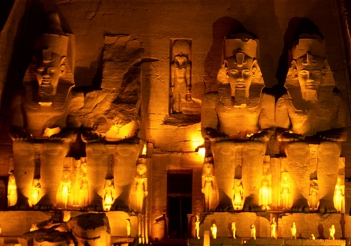 Temple of Rameses II At Night