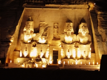 Sound and Light Show at Abu Simbel Temples from Aswan