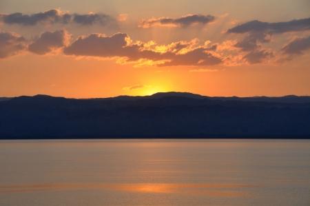 死海の日の入り、ヨルダン