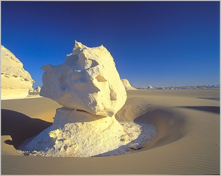 The White Desert of Egypt north of the town of Farafra.