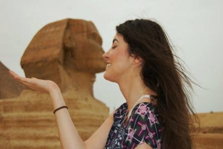 Die Sphinx bei den Pyramiden