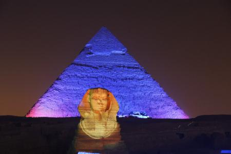 Sound and Light Show, Sphinx and Khafre Pyramid