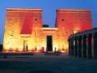 Luz y sonido en el templo de Filae