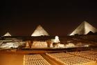 Show de luzes e som nas Pirâmides