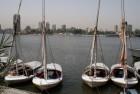 ファルーカよりカイロのナイル川